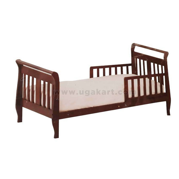 Kids Wooden Bed With Stay Protector-Single Bed 4/6