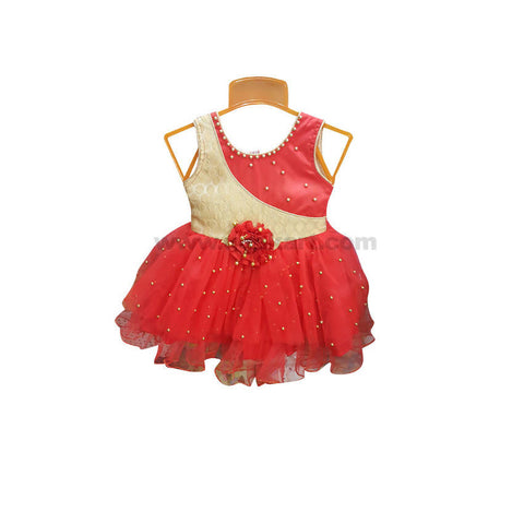 Red Frock For Girl_6 m to 1 yr
