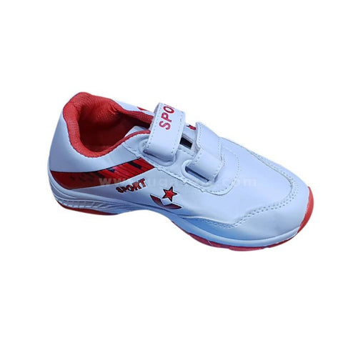 Sports Shoes_White & Red