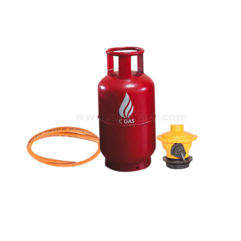 Cgas 13Kg (Cylinder+Gas+Regulator+2Mtr Hose Pipe)