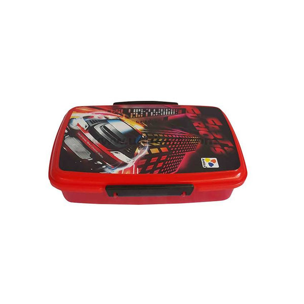 Fast And Furious Red Lunch Box With Spoons