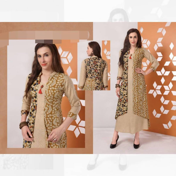 Pure Cotton Dress With Jacket Style_XXL