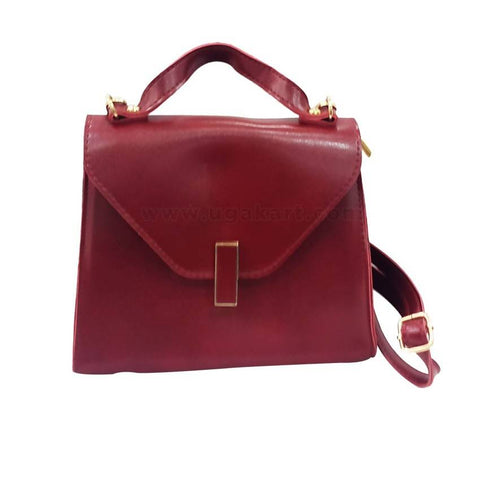 Maroon Colour Handbag