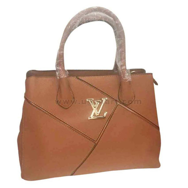 VL Brown Faux Leather Womens hand bag