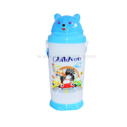 Children-Blue-And-White-Water-Bottle
