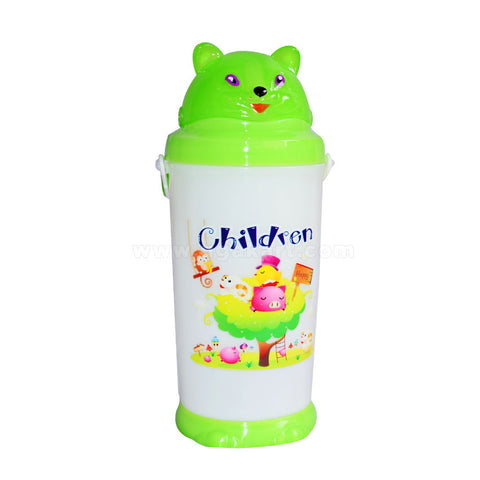 Children-Green-And-White-Water-Bottle
