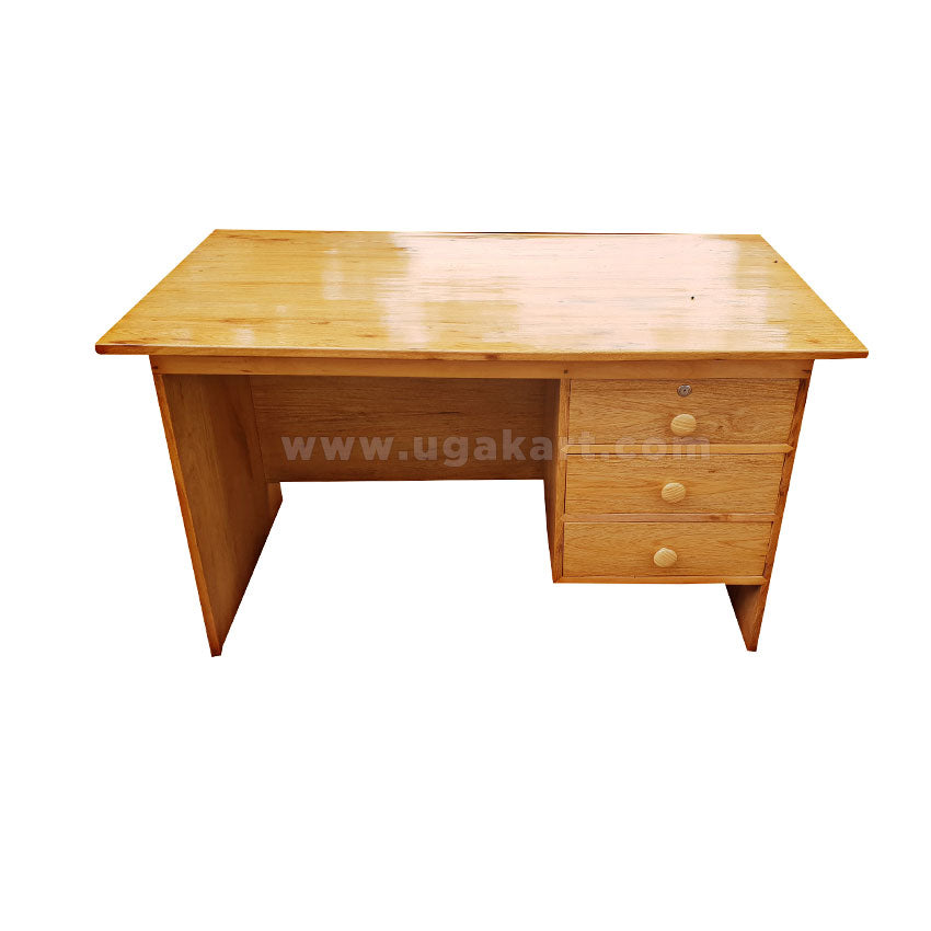 Wooden Office Desk With Side 3 Drawers 4 1 2 Feets