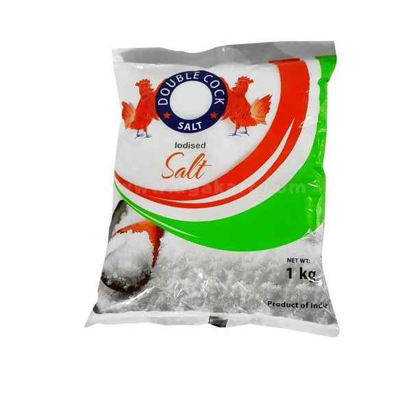 Double Cock Salt Iodised Salt 1Kg
