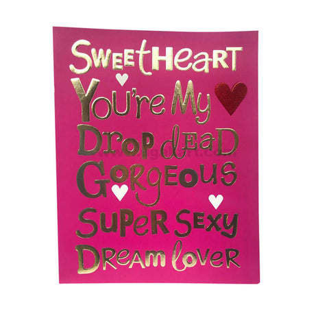 VALENTINE CARD_SWEETHEART
