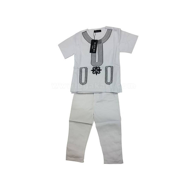 2Pcs Round Neck Shirt and Long Pant-For Kids