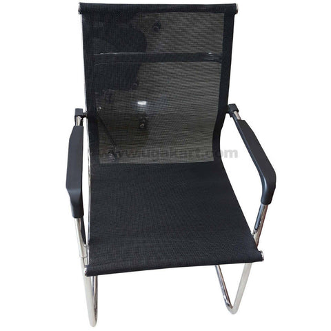 Black and Stainless Steel Chair For Office
