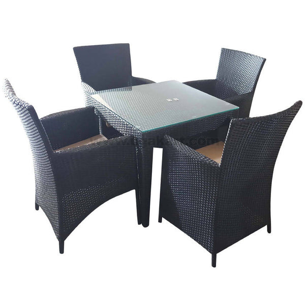 Dinning Table With 4 Seater Black