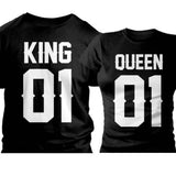 Couple T-Shirts Classic Front King, Queen Printed T-Shirts