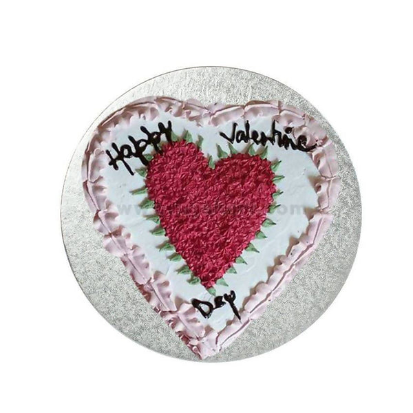 Heart Shaped White Forest Fresh Cream Cake