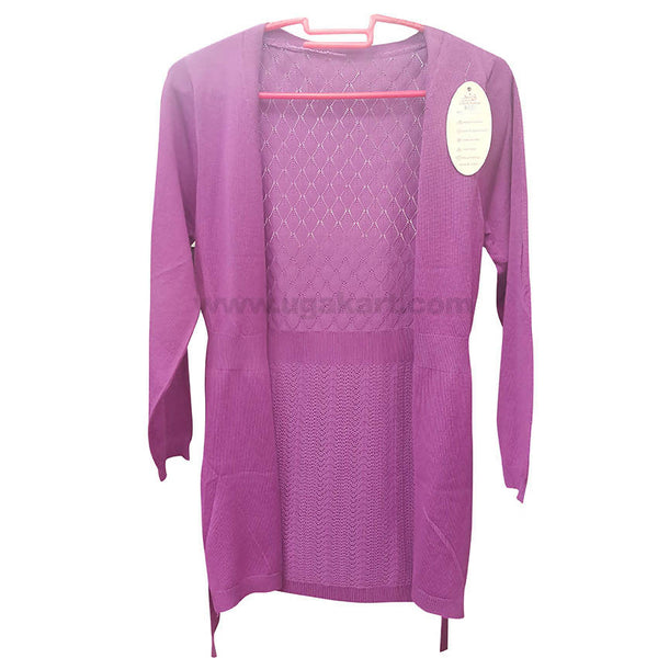 Pink Ladies Front Open Sweater (Free Size)