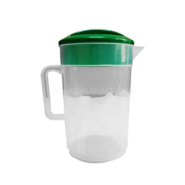 Transparent Plastic Jug With Lid - 2 Qty