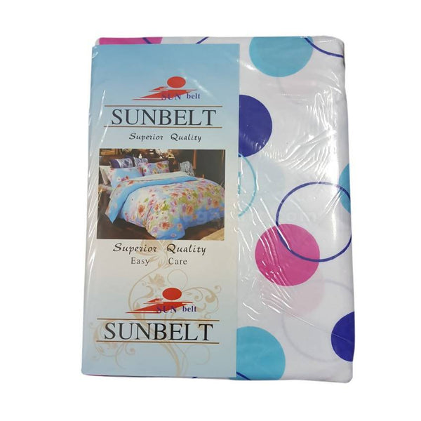 Sunbelt Round Designed Printed Bedsheet Set of 2 With 2 Pillow Cover (6x6)