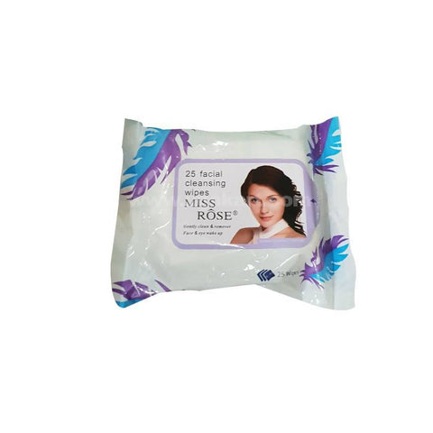 Miss Rose Facial Cleaning 25 Wipes White_2pc