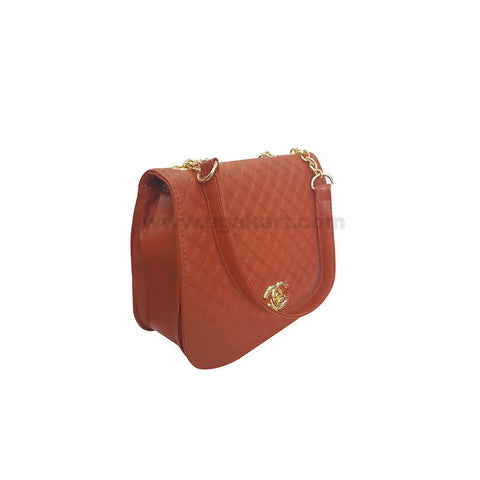 CG Brown Hand Bag For Women's