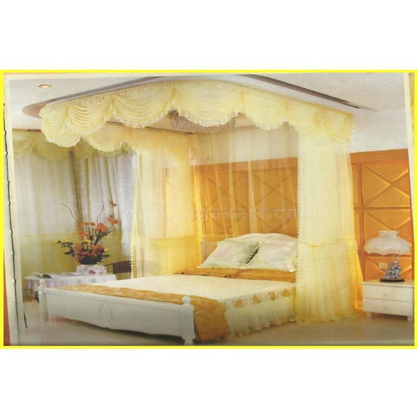 Stylish Wall 2Stand Lace Mosquito Net - Cream