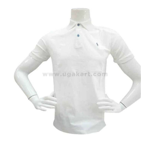 White Polo Tshirt For Mens