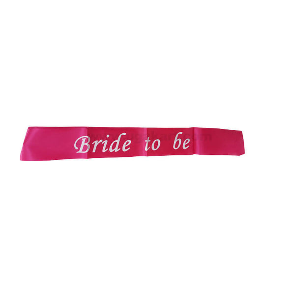 Bride To Be Cross Ribbon (Sashes)