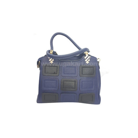 Star Blue and Black HandBag For Women's
