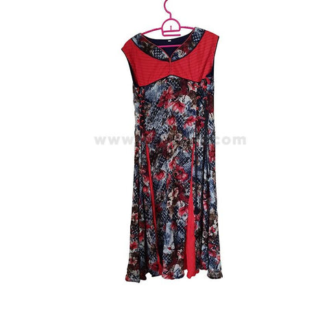 Ladies' Multi-colored Long Dress - Size L