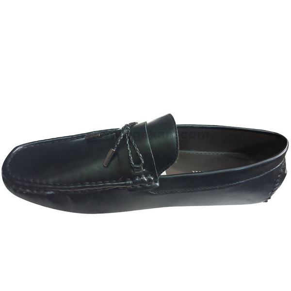 Mens Soft Suede Driving Loafers Shoes Hand Made Moccasin-Black(Size-41 to 44)