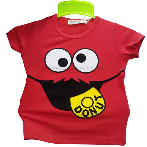 Girl's Red Short Sleeve Shirt (5 to 8 yrs)