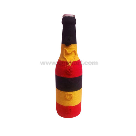 Decoration Hand Made Bottle With Flowers Big-3In1 Cloure