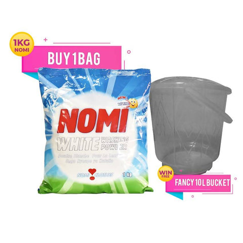BUY 6 PACKS OF NOMI SACHET 1 KG & GET 1 FANCY BUCKET 10 LTR FREE