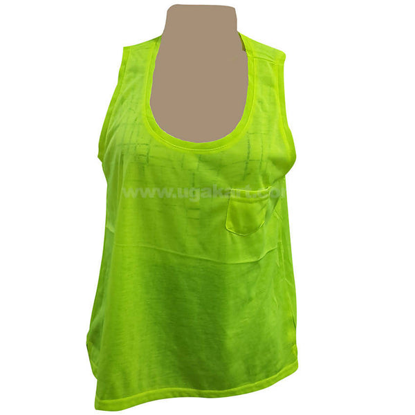 Women's Green Sleeve less Top