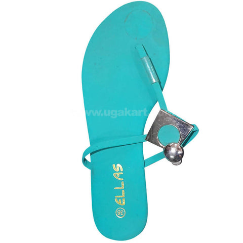 Women's Turquoise Green Open Shoes