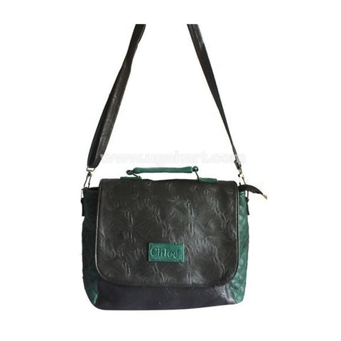 Chloe Ladies Shoulder Bag - Black, Green
