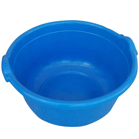 Round Blue Plastic Wash Basin