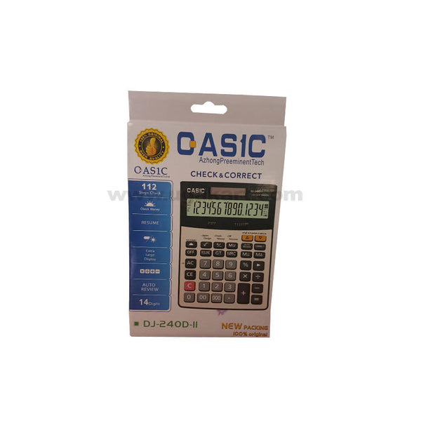 Qas1C Electronic 14 Digits Calculator Dj-240D-Ii