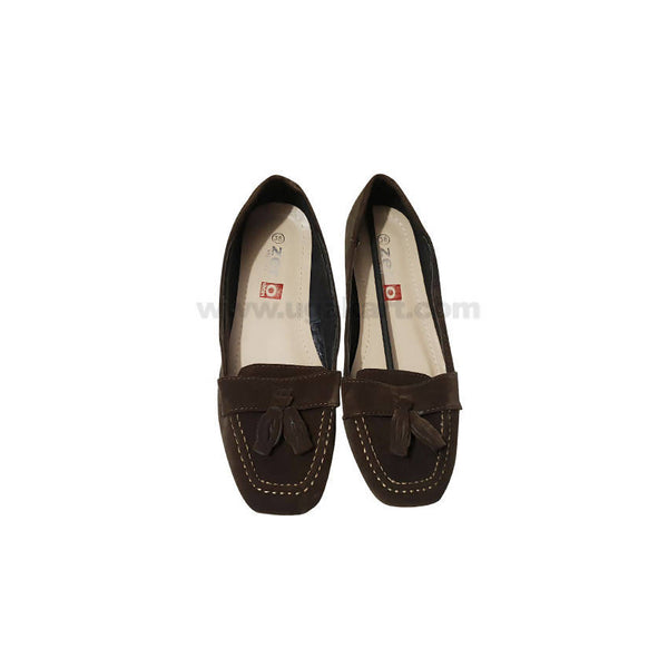 Zer Brown Ballet Flat PUMPS For Women