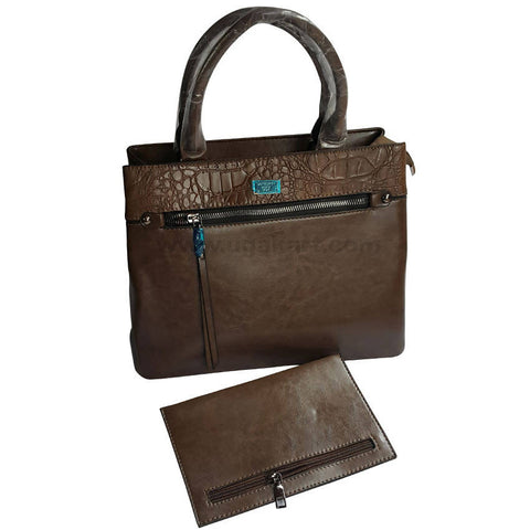 Brown Hand Bag Set of 2