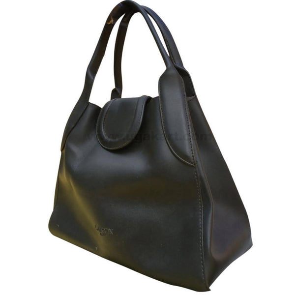 Handbag With Shoulder Handle - Black