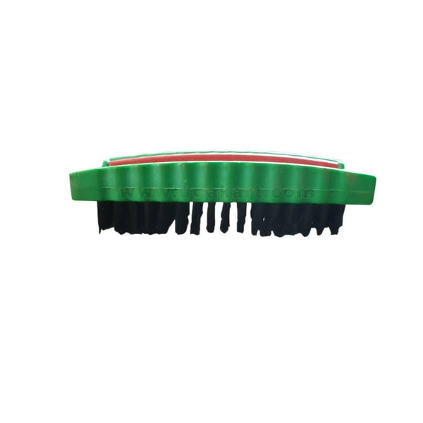 Plastic Green And Black Shoe Brush 4.5Inches