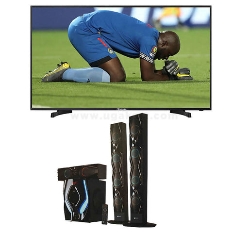 Hisense 40 Smart Tv Black and SAYONA SH 1204BT Combo