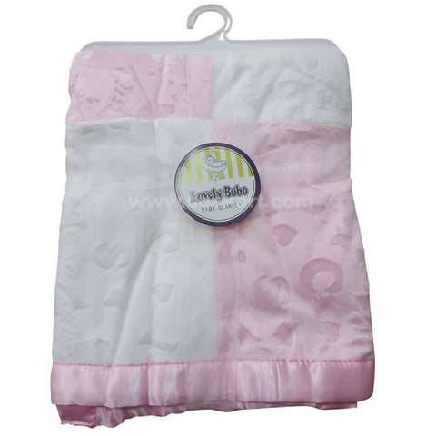 Pink White Color Blanket For Kids