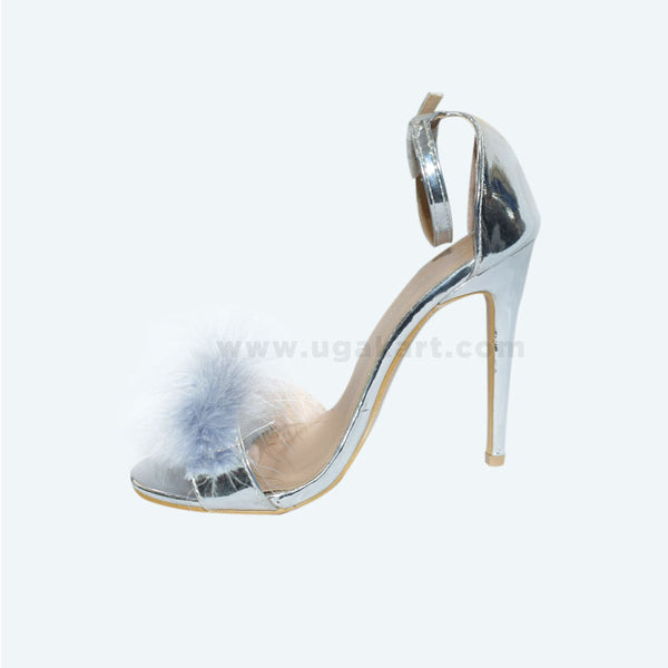 Silver High Healed Ladies Shoes