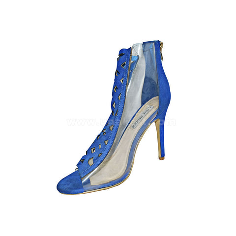 STEVE MADDEN Blue And Transparent Ladies High Healed Shoes