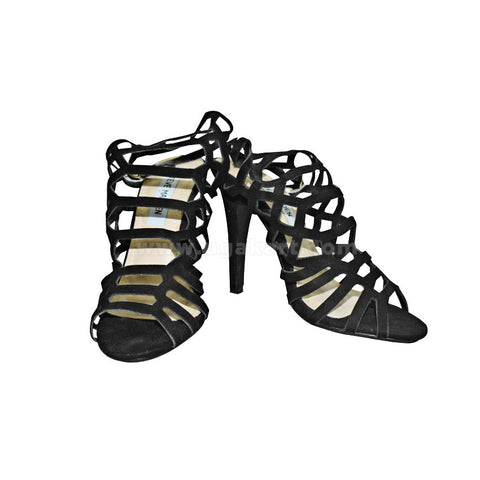 Black Designer Ladies High Healed Shoes