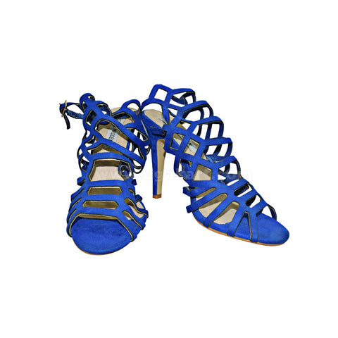 STEVE MADDEN Blue Designer Ladies High Healed Shoes Ladies Gladiator