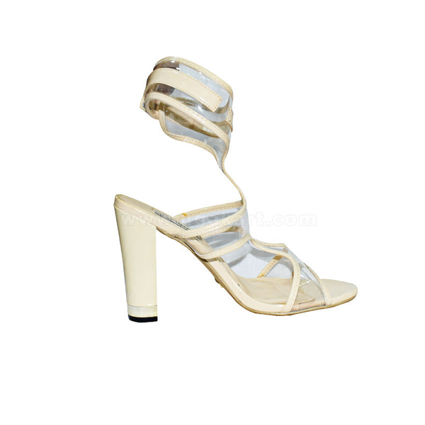 STEVE MADDEN White Ankle Designer Ladies High Healed Shoes