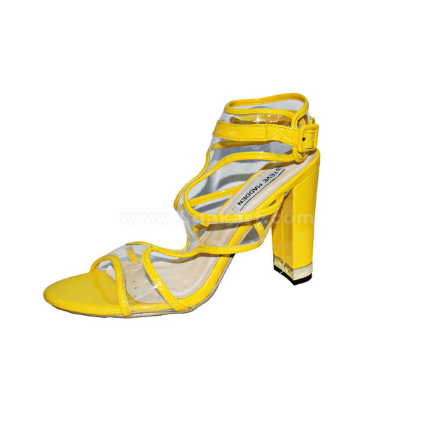 STEVE MADDEN Yellow Ankle Designer Ladies High Healed Shoes