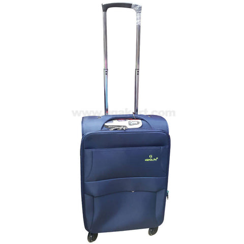 Gemulan Navy Blue Multi Pocket Spinner Luggage Suitcase (Small)